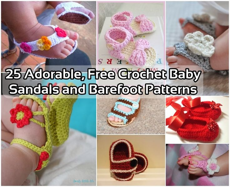 25 Adorable, Free Crochet Baby Sandals and Barefoot ...