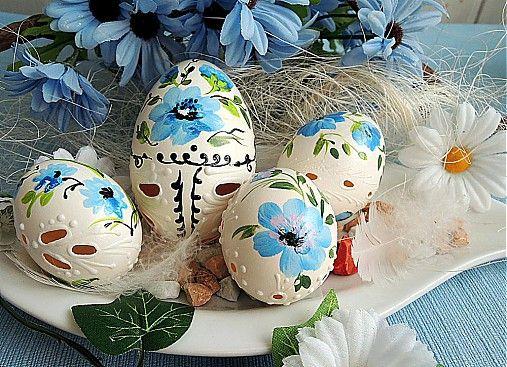 Sada sv. modrých kraslíc by Cecil - SAShE.sk - Handmade Veľká Noc