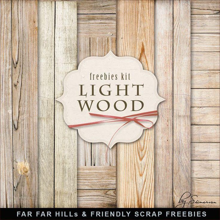 New Freebies Kit of Light Wooden Backgrounds (Far Far Hill)