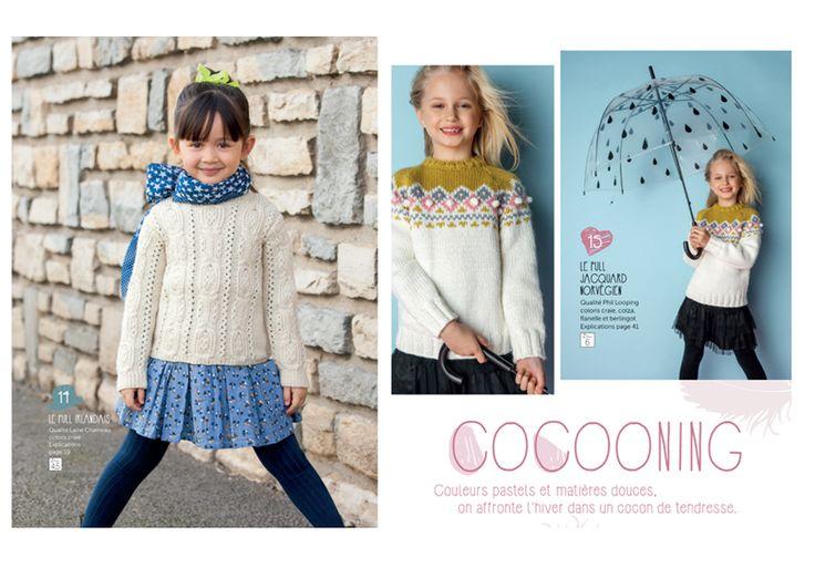 Ruční pletení: PHILDAR 124 - francouzská dětská móda pro podzim 2015