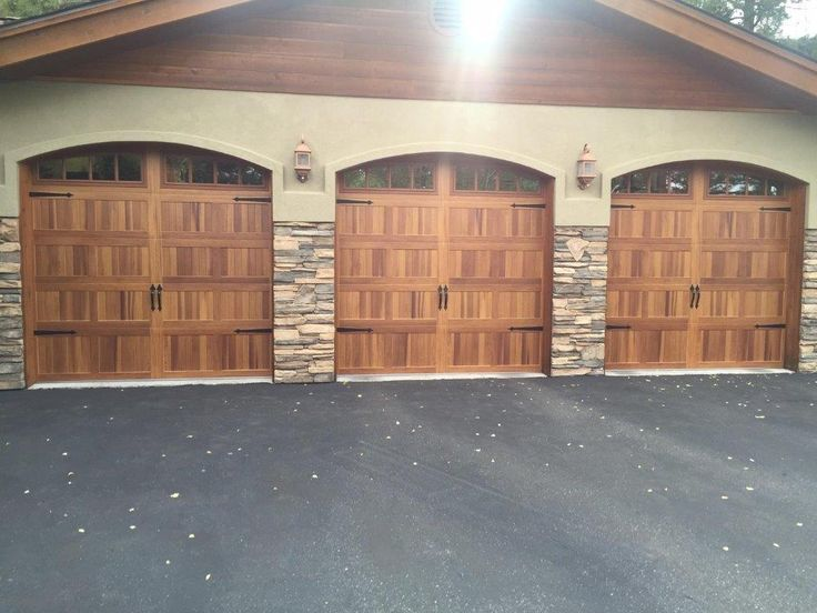 14 best images about accents woodtones on pinterest for Cedar wood garage doors price