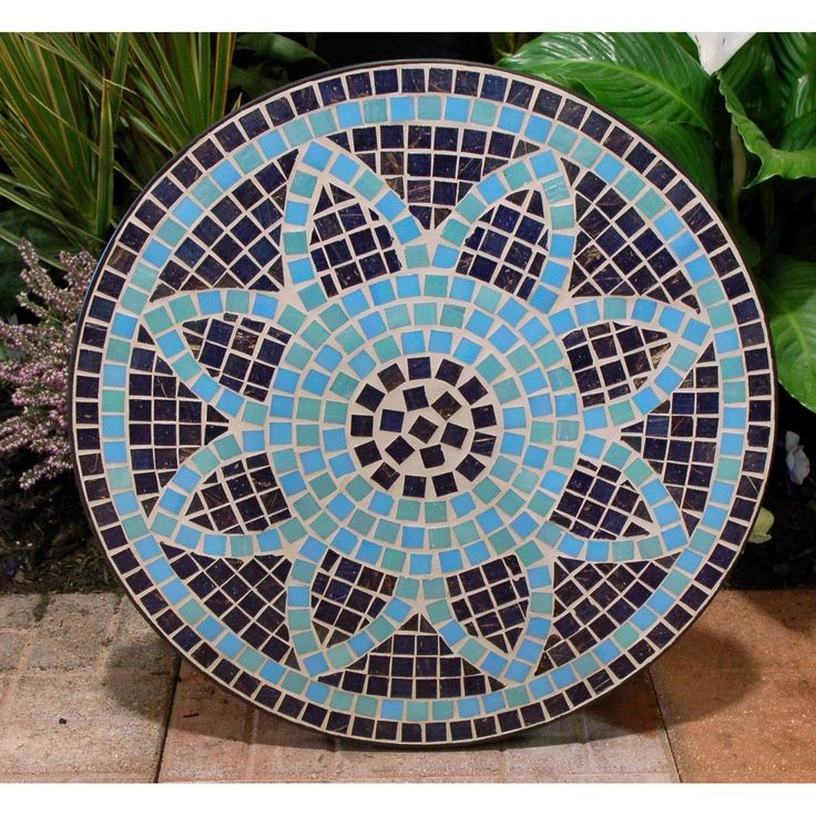 how to make a mosaic table top with broken glass