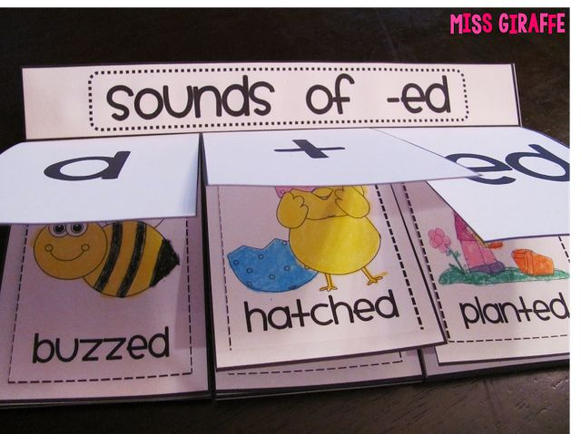 Sounds of ED book and a ton of other sounds of -ed and prefixes / suffixes / inflectional endings practice on this site