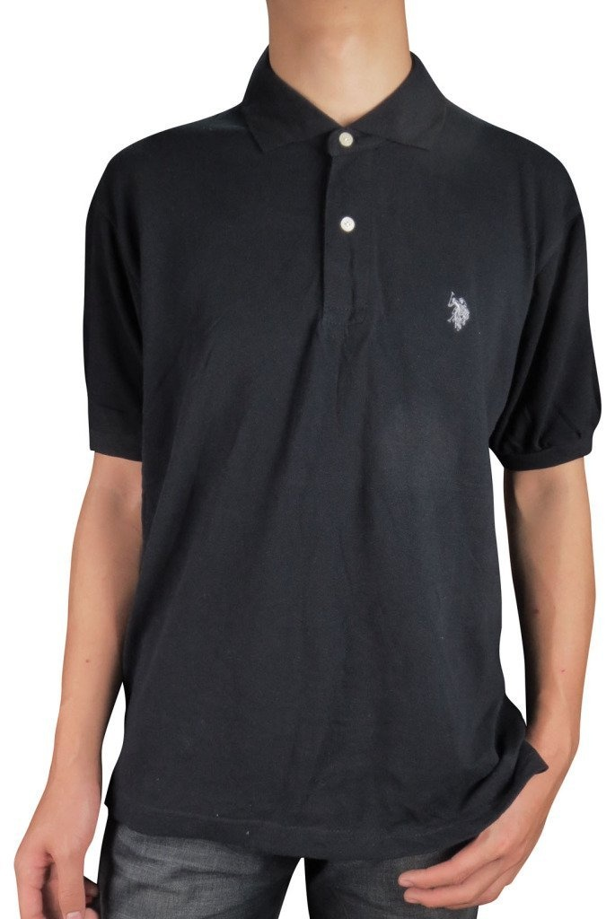 Polo Shirt, Bird Shirt, Men's Screen-printed Collared Tshirt, Business Casual, Professional Clothing, Dark Gunmetal Grey Slub Cotton-poly