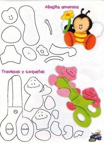 Figuras foami: plantillas para manualidades