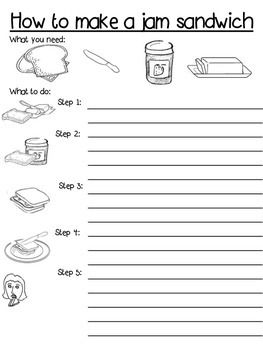 17 best ideas about procedure writing on pinterest for Sandwich template for writing