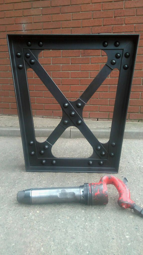 Industrial Table Legs Trapeze Truss Hot Riveted Steel