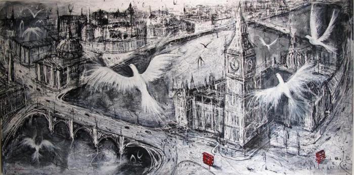 Mark Hanham, City In Flight, 2011