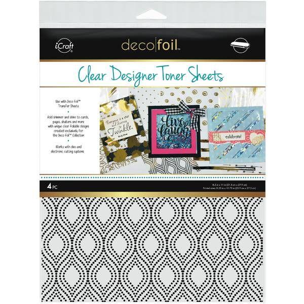 Deco Foil Clear Designer Toner Sheets – Groovy