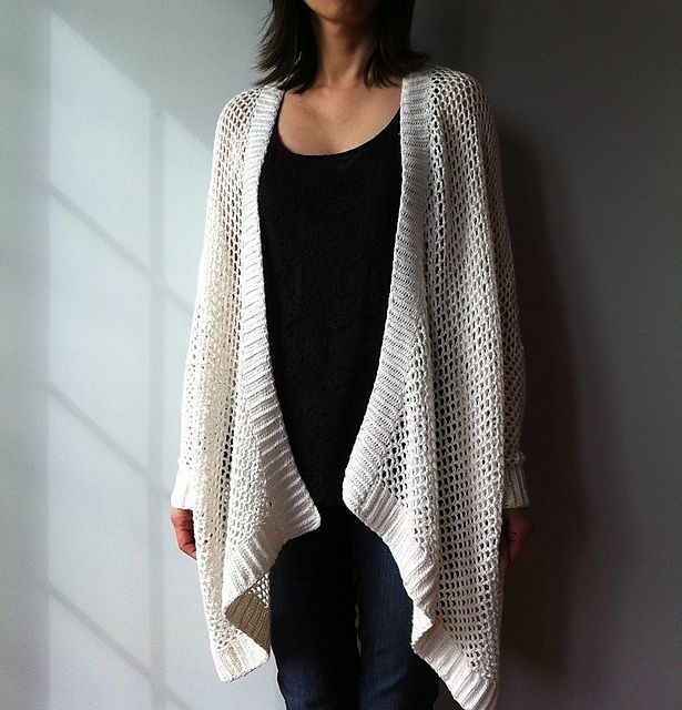 Ravelry: Angela - easy trendy cardigan pattern by Vicky Chan   someday would like to make before it goes out of style