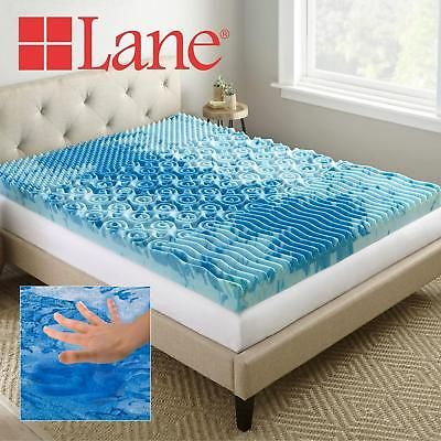 4in Cooling Gel Mattress Topper Memory Foam Bed Cover Twin Xl Size Airflow Sleep