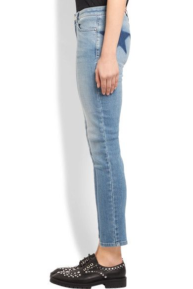 Givenchy - Printed Low-rise Skinny Jeans - Mid denim - FR42
