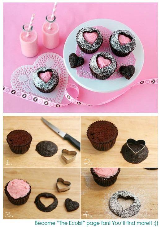 Heart Cupcakes - san valentin
