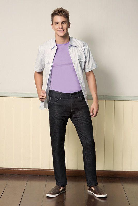 M2A Jeans | Fall Winter 2014 | Teen Collection | Outono Inverno 2014 | Coleção Juvenil | peças | calça jeans masculina; camisa masculina; camiseta lilás masculina; jeans; denim.
