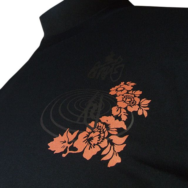 Design on a Japanese style t-shirt.