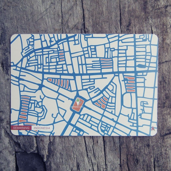 Postcard | Indonesian City Map Postcard Series | Semarang - Indonesia
