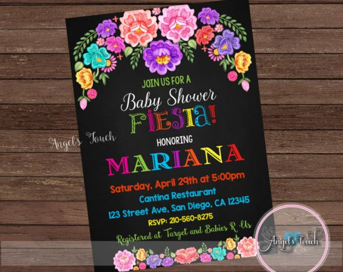 Fiesta Baby Shower Invitation, Fiesta Baby Shower, Fiesta Mexicana Baby Shower Invitation, Mexican Fiesta Invitation, Digital File