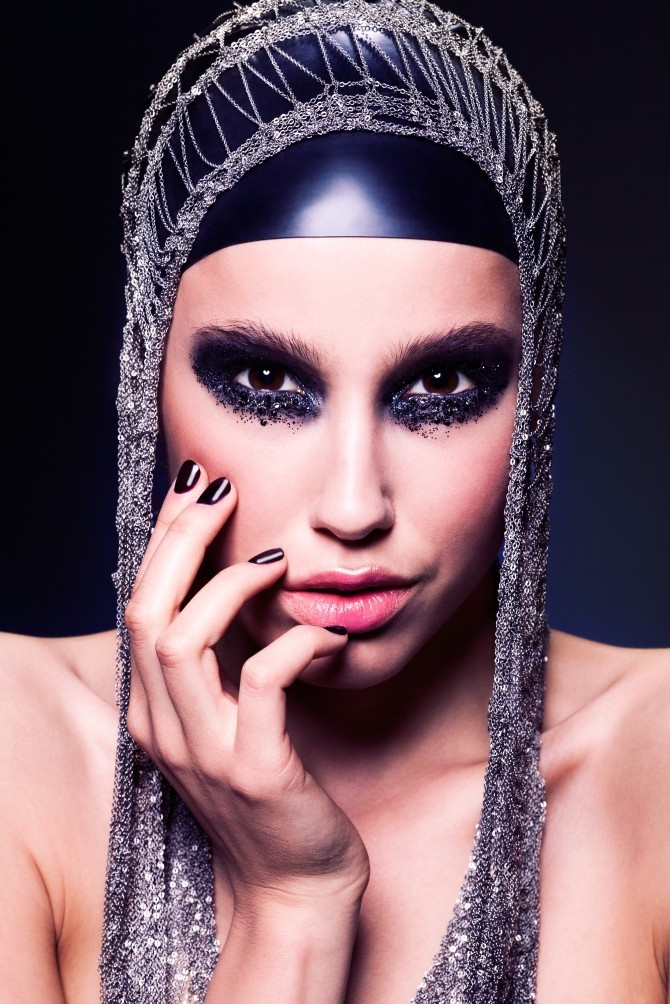 Fall 2012 by Jolie: First Darkness. (Jewelry: Helsinki10. Model: Sonja/Brand. Makeup: Piia Hiltunen. Photo: Paavo Lehtonen.)