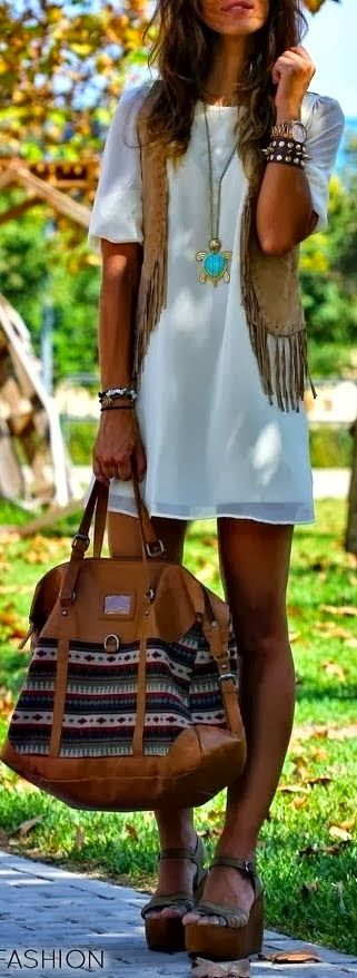 Stylish Mini Dress and Suitable Handbag, Platform Shoes with Accessories