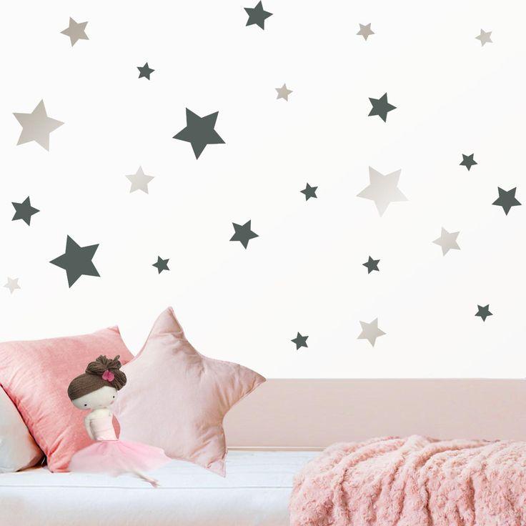 Mágicas ★ estrellas ★ de vinilo para la pared de la habitación infantil. https://dolcevinilo.es/vinilo-infantil-estrellas