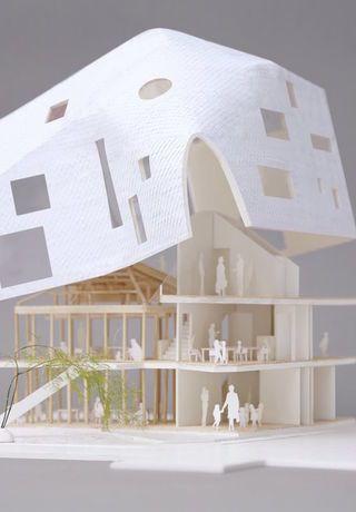 在日本,马岩松造了一座像家一样的幼儿园_好奇心日报