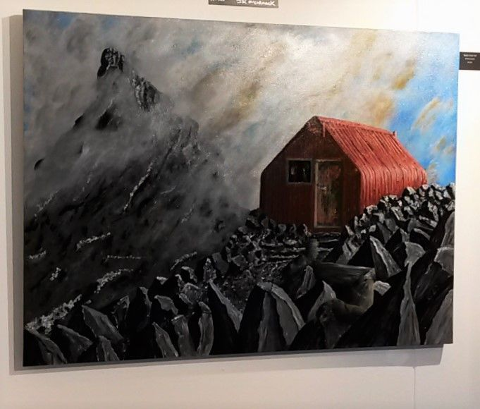 This just in... JR McCormack's latest painting is now on the wall! 'The Evolution of Esquilant Bivouac, Mt Earnslaw' is the second in the series of his creative depictions of iconic Kiwi mountaineering huts.