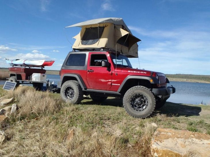 Jeep Patriot Fold Out Tent Rooftop Living Bo