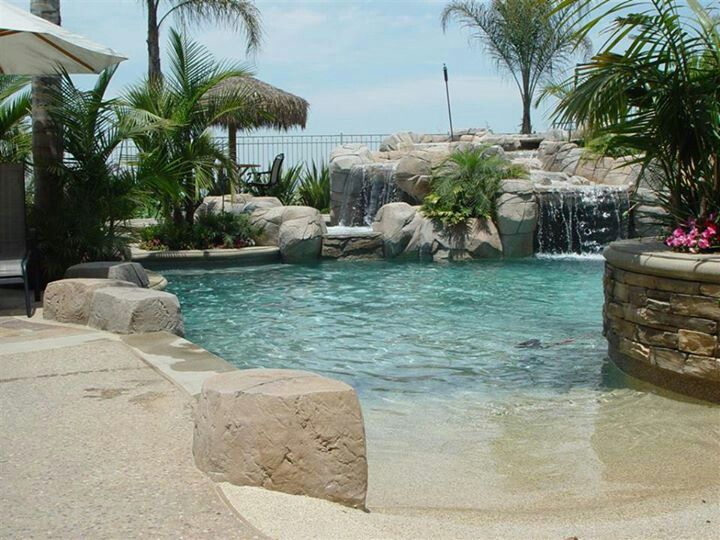 beach style pool pools pinterest pool designs backyard and hot tubs