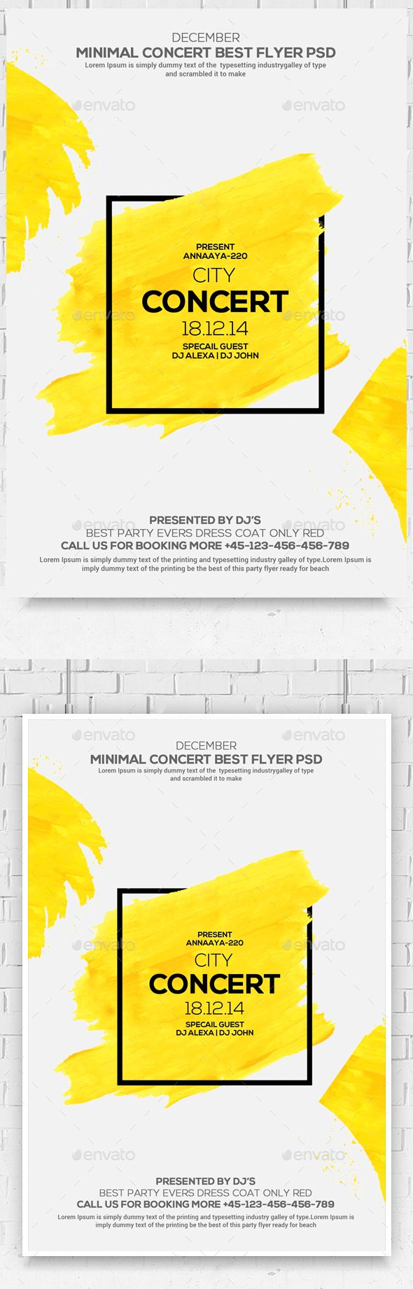 Design poster the best - Minimal Colors Flyer Psd