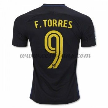 Atletico Madrid Fotbalové Dresy 2016-17 Fernando Torres 9 Venkovní Dres