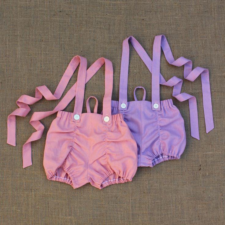 Linen Suspender Shorts
