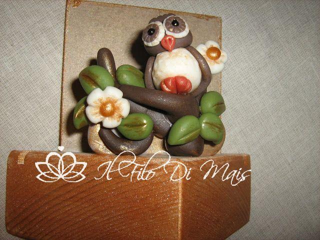Il filo di mais di Chiara Gloria e Daniela: Porta biglietti da visita in pasta di mais