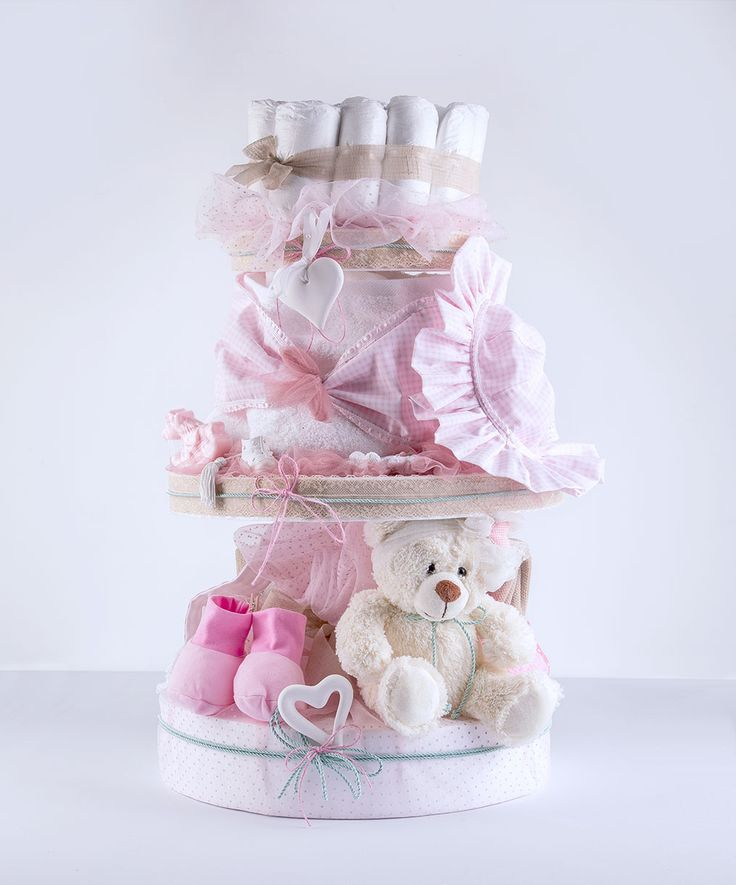 baby diaper cake!decorated with love and style!