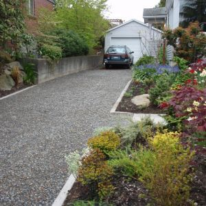 cobblestone edging with gravel driveway - Google Search