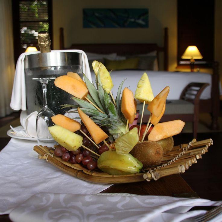 A refreshing welcome treat for you! #EnchantedIslandSeychelles #Seychelles #Luxury