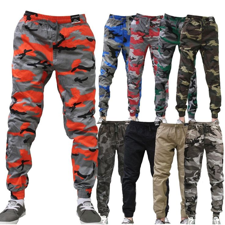 JOGGER Men Elastic Waist Drop Crotch Twill Harem Trousers Camouflage sweat pants #ABLANCHE #JOGGER