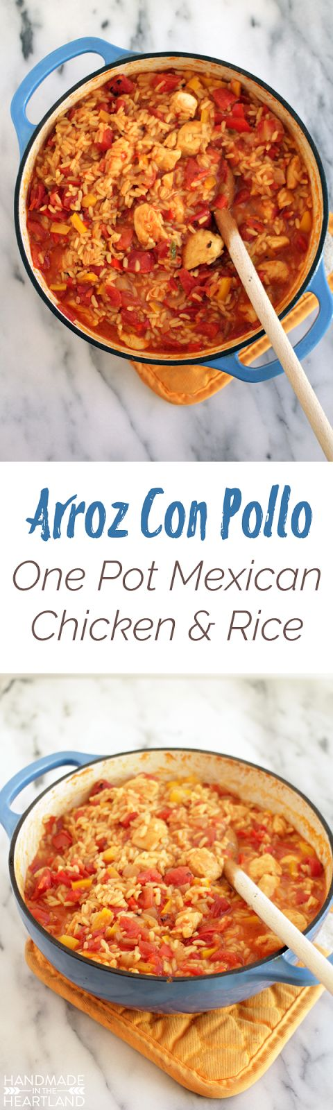 Arroz Con Pollo, One Pot Mexican Chicken & Rice Recipe #YesYouCAN #Ad