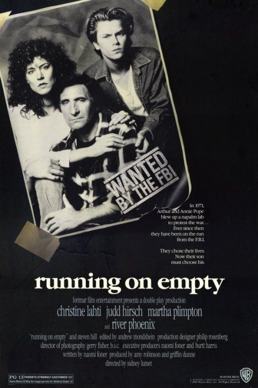 Running on Empty Movie Poster - Internet Movie Poster Awards Gallery