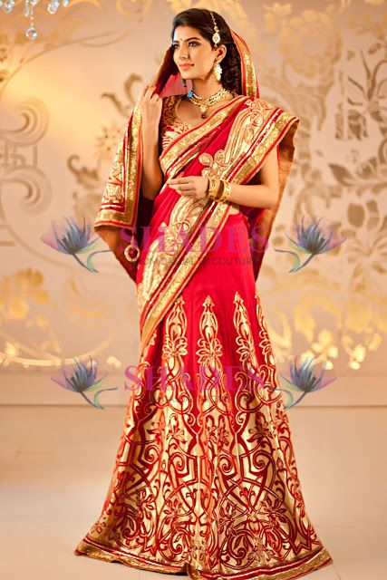 Buy Bridal Women Sarees online in India. Huge selection of Women Bridal Sarees at http://www.shadesandyou.com/product-category/sarees/