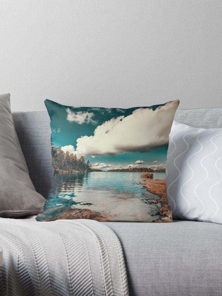 'Belle Svezia' Throw Pillow by HappyMelvin. #nature #landscape #wanderlust #homedecor #pillows