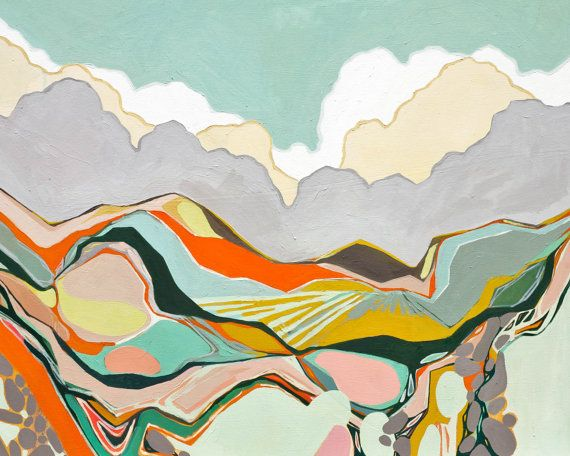 Abstract Landscape III 8 x 10 archival print by MorganFinkArt