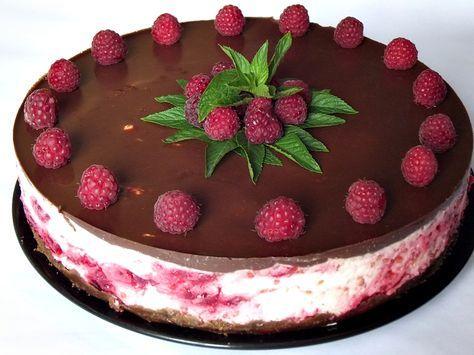 Cheesecake rece cu ciocolata si zmeura