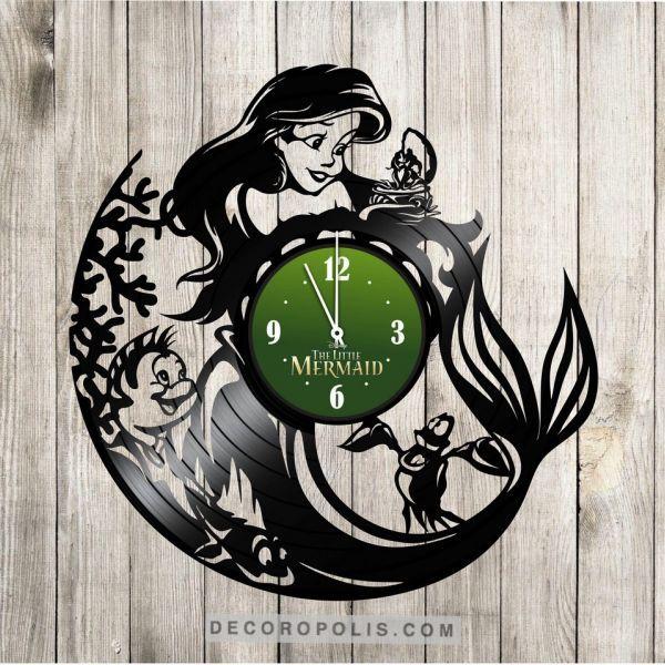 The Little Mermaid Vinyl Record Wall Clock For Girls