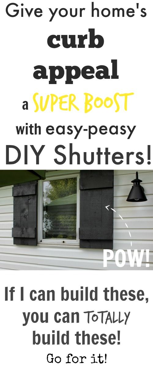 Add instant curb appeal with easy homemade shutters!