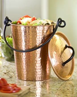 copper compost pail leaving it on the counter will mean weu0027ll actually use it