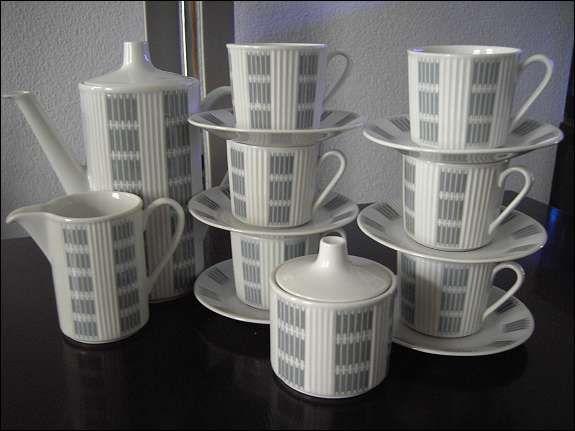 Lilienporzellan Menuett Noblesse Kaffeesevice, 62,--