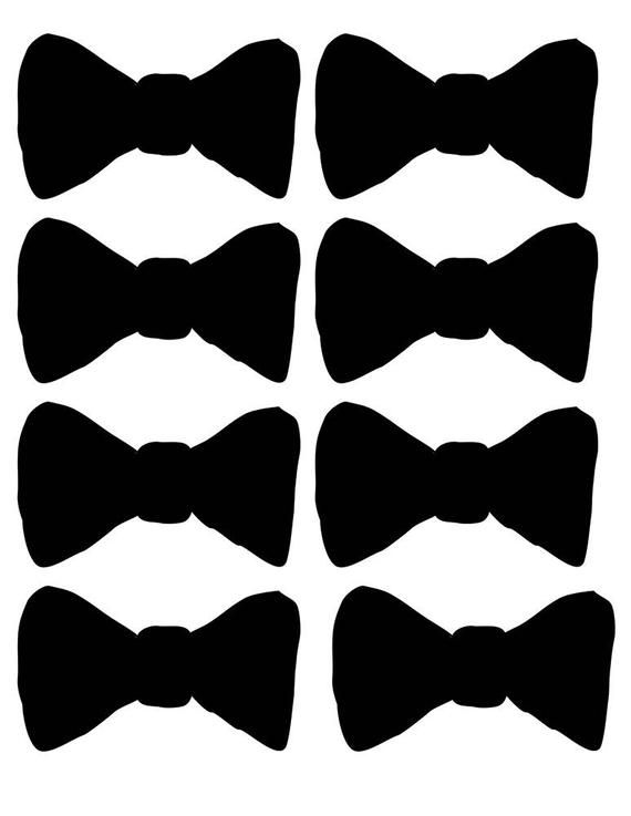 picture about Bow Tie Printable referred to as Printable Bow Tie, Printable mustache, Printable black hat