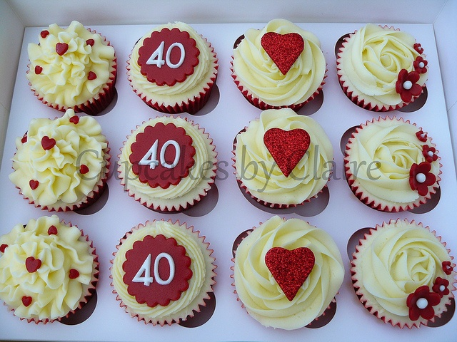 40th Anniversary cupcakes, maybe? #40thanniversary #anniversarycupcakes #iwantcupcakes