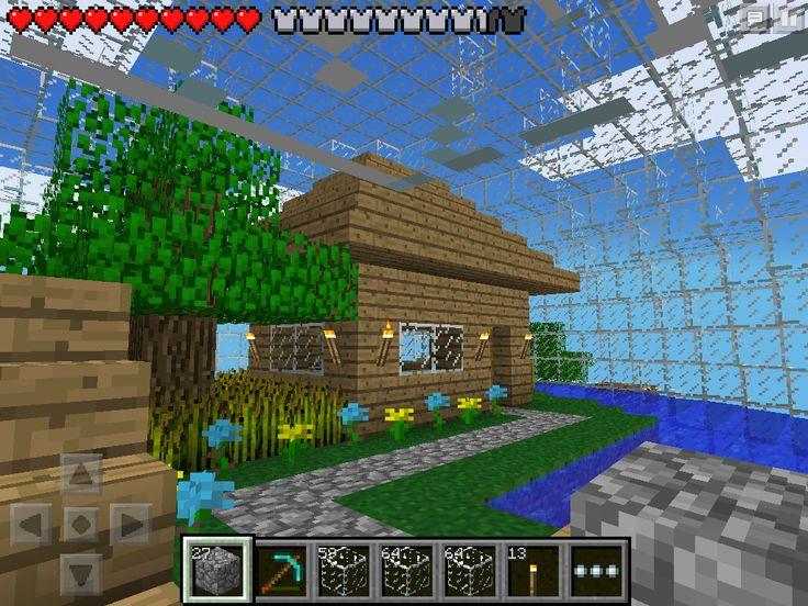 w2 house inside of glass sphere minecraft pe my