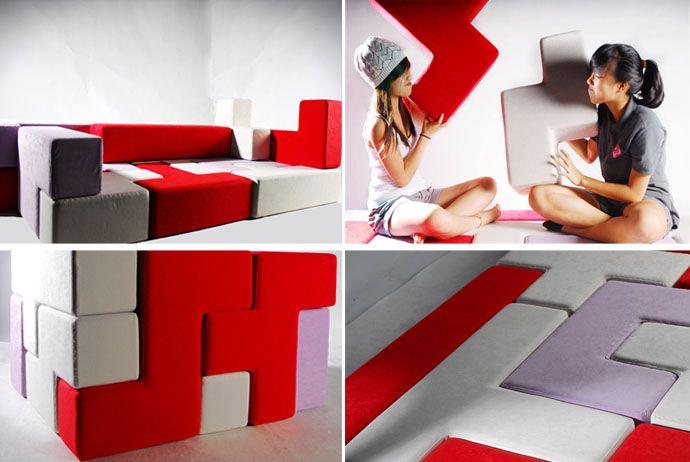 TAT-Tris: A Versatile Multipurpose Furniture | http://www.designrulz.com/product-design/sofa-product-design/2012/06/tat-tris-versatile-multipurpose-furniture/